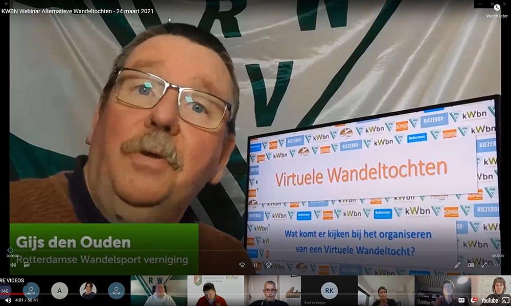 Gijs den Ouden, voorzitter van de Rotterdamse Wandelsport Vereniging