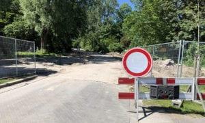 afzetting 1 sportpark Thurlede Schiedam Beatrixpark Parkweg