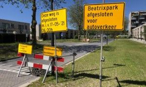 afzetting 2 sportpark Thurlede Schiedam Beatrixpark Parkweg